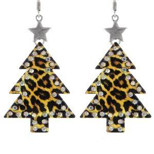 Leopard Christmas Earrings